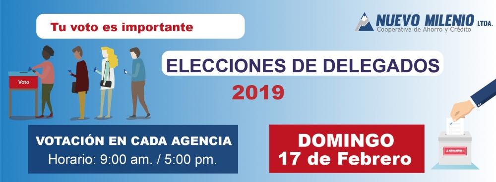 Convocatoria Elección de Delegados 2019
